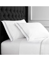 Canora Grey Drakeford Embroidered 600 Thread Count Sheet Set CAGY3149 Size: California King, Color: Gray