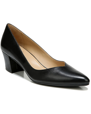 Naturalizer Mali Pointed Toe Pump, Size 9 in Black Leather at Nordstrom