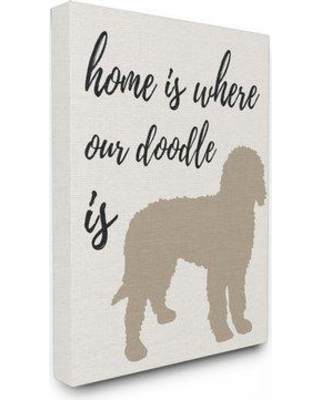 """Winston Porter 'Home is Where Our Golden Doodle is' Graphic Art Print WNSP1923 Size: 20"""" H x 16"""" W Format: Wrapped Canvas"""