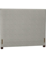 Raleigh Square Headboard Without Nailheads, Full, Premium Basketweave Light Gray