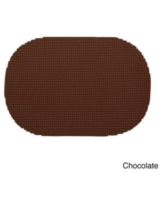 Oval Fishnet Placemat (Set of 12) (Chocolate)