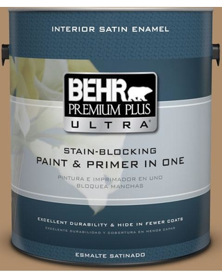BEHR Premium Plus Ultra 1 gal. #N270-5 River Road Satin Enamel Interior Paint and Primer in One