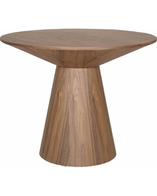 Quenby Solid Wood Pedestal End Table Color: Walnut