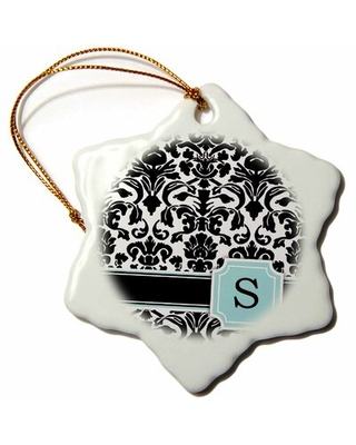 Letter Snowflake Holiday Shaped Ornament
