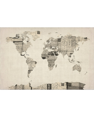 Amazing shopping savings vintage postcards world map by michael vintage postcards world map by michael tompsett ready to hang canvas wall art gumiabroncs Gallery