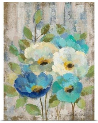 "Great Big Canvas 'Pastel Bloom II' by Silvia Vassileva Painting Print 2358799 Size: 48"" H x 36"" W Format: Canvas"