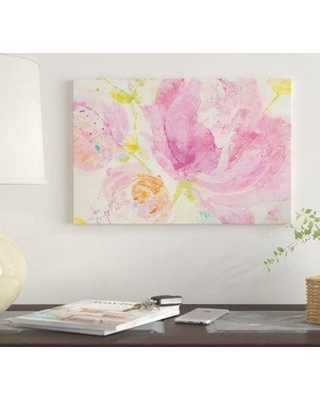 "East Urban Home 'Spring Abstracts Florals II' By Albena Hristova Graphic Art Print on Canvas EUME2647 Size: 26"" H x 40"" W x 1.5"" D"