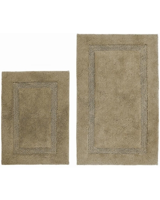 Nautica Peniston 2-Piece Brown Cotton 17 in. x 24 in. / 21 in. x 34 in. Rug Set