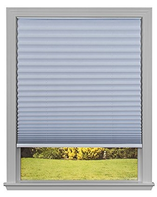 Redi Shade 3511663 Trim-at-Home Light Blocking Fabric White, 48 in x 64 in, (Fits windows 31 in-48 in) Easy Lift Cordless Pleated Shade, 48 Inch x 64 Inch