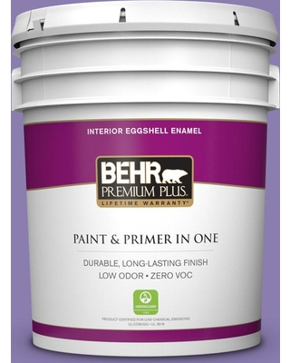 BEHR Premium Plus 5 gal. #PPU16-04 Purple Agate Eggshell Enamel Low Odor Interior Paint and Primer in One