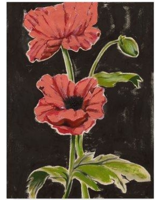 "East Urban Home 'Haloed Poppies I' Acrylic Painting Print on Wrapped Canvas W000374318 Size: 32"" H x 24"" W x 2"" D"