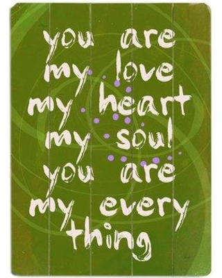 Artehouse LLC You Are My Love Graphic Art Print Multi-Piece Image on Wood 0004-0164-38