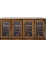 Printer's Glass TV Stand, Large, Tuscan Chestnut stain