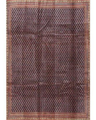 East Urban Home Contemporary Brown/Light Red Area Rug X112075156 Rug Size: Rectangle 2' x 3'