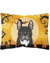 The Holiday Aisle Java Halloween French Bulldog Fabric Indoor/Outdoor Throw Pillow BF148788