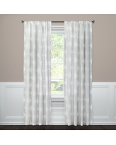 "Clipped Sheer Curtain Panel Gray/White (54""x84"") - Threshold"