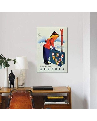 """East Urban Home 'Winter' Graphic Art Print on Canvas EBHS7995 Size: 26"""" H x 18"""" W x 1.5"""" D"""