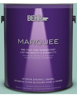 BEHR MARQUEE 1 gal. #MQ6-36 Cascade Green One-Coat Hide Eggshell Enamel Interior Paint and Primer in One