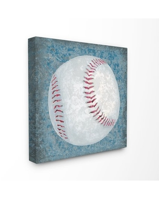 The Kids Room by Stupell Grunge Sports Equipment Baseball Oversized Stretched Canvas Wall Art, 24 x 1.5 x 24