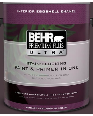 BEHR ULTRA 1 gal. #T18-04 Nocturne Shade Eggshell Enamel Interior Paint and Primer in One