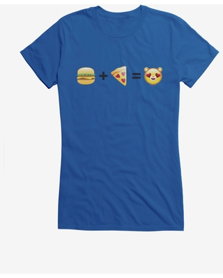Care Bears Burger And Pizza Equals Girls T-Shirt