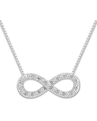 a909f12db Sweet Savings on Diamond Infinity Necklace 1/10 ct tw Round-cut ...