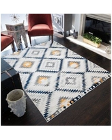 CosmoLiving by Cosmopolitan Golden Girl Ivory Area Rug 79353027 Rug Size: Rectangle 8' x 10'