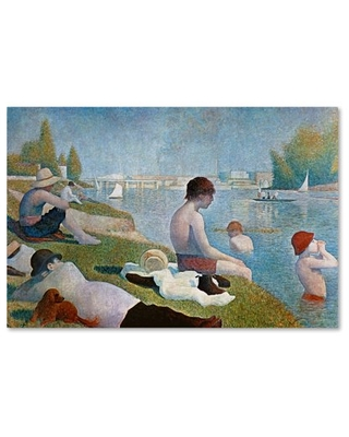 Trademark Fine Art 'Bathing at Asnieres' Canvas Art by Georges Seurat