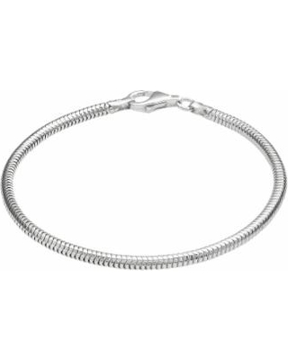"""""""Individuality Beads Sterling Silver Snake Chain Bracelet, Women's, Size: 7.5"""", Grey"""""""