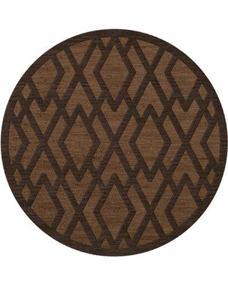 Everly Quinn Browndell Tufted Wool Caramel Area Rug W001587500 Rug Size: Round 12'