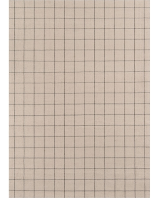 """3'6""""X5'6"""" Plaid Woven Accent Rug Ivory - Erin Gates By Momeni"""