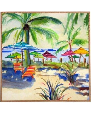 East Urban Home 'Caribbean Time' Framed Painting Print HACO4999