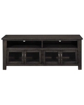 """Williston Forge Carstens TV Stand for TVs up to 65"""" Wood in Brown/Gray, Size 24.0 H x 60.0 W x 18.0 D in 