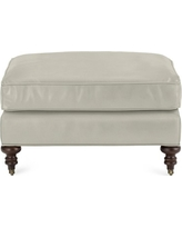 Bedford Ottoman, Faux Suede, Solid, Stone