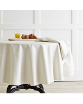 """Hotel Tablecloth, 90"""" Oval, Ivory"""
