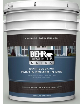 BEHR ULTRA 5 gal. #710E-3 Rhino Satin Enamel Exterior Paint and Primer in One