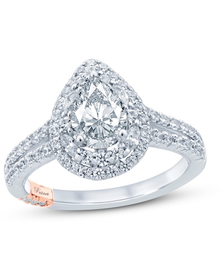 Jared The Galleria Of Jewelry Pnina Tornai Can't Stop Loving You Diamond Engagement Ring 1-5/8 ct tw Pear/Marquise/Round 14K Two-Tone Gold