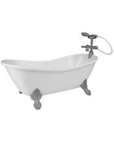 White Doll Bathtub by Sophia's | 18 Inch Doll Tub with Handshower