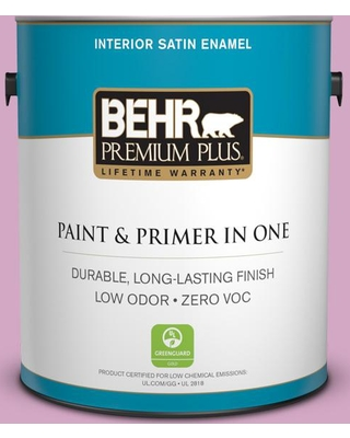 BEHR Premium Plus 1 gal. #M120-4 Heart to Heart Satin Enamel Low Odor Interior Paint and Primer in One