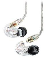 Shure SE215 Sound-Isolating In-Ear Stereo Earphones (Clear) SE215-CL