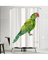 East Urban Home Perched Parrot Shower Curtain URBR4741