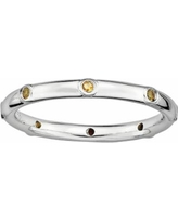 Stacks and Stones Sterling Silver Citrine Stack Ring, Women's, Size: 7, Orange