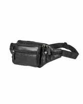 Champs Genuine Leather Waist Pack - Black