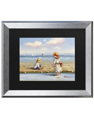 Trademark Fine Art 'At the Beach III' Canvas Art by Anonymous