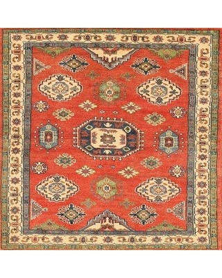 Bloomsbury Market Traditional Mehroon/Black/Blue Area Rug X112036966 Rug Size: Square 4'