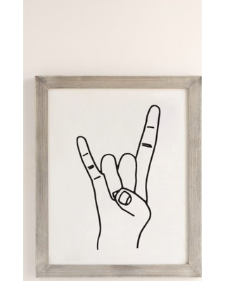 Cult Paper Rock On Art Print - Grey 18X24 at Urban Outfitters