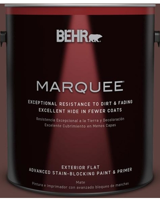 BEHR MARQUEE 1 gal. #710B-7 Rich Mahogany Flat Exterior Paint and Primer in One, Browns/Tans