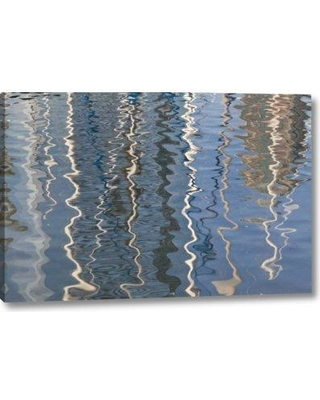 """Millwood Pines 'Ca San Diego Abstract Water Reflection of Boats' Graphic Art Print on Wrapped Canvas BF152407 Size: 16"""" H x 24"""" W x 1.5"""" D"""