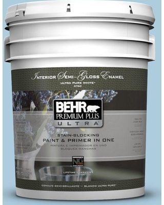 BEHR Premium Plus Ultra 5 gal. #M500-2 Early September Semi-Gloss Enamel Interior Paint and Primer in One