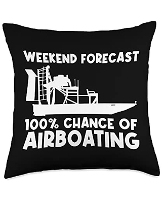 Best Airboat Riding Motorboat Propeller Designs Cool Gift for Men Women Airboating Watercraft Boat Throw Pillow, 18x18, Multicolor